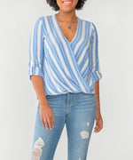 Jenalee Wrap Top (Denim Blue) Main Image