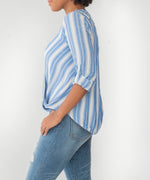Jenalee Wrap Top (Denim Blue) Hover Image