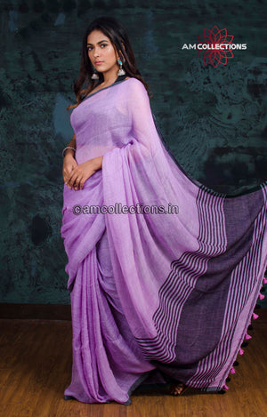LINEN MOCK-LINO SAREE