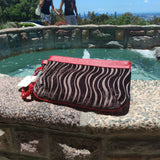 Crystal Wristlet Bag-Red