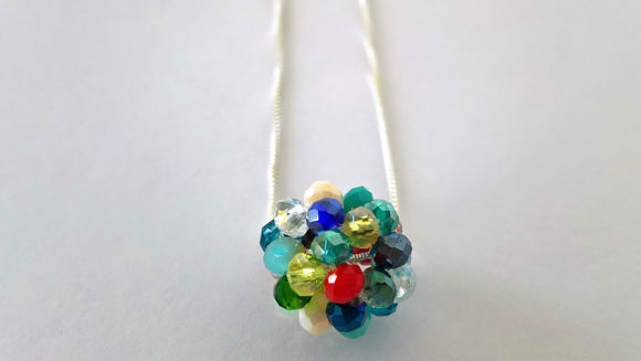 Murano necklace with Sterling Silver chain