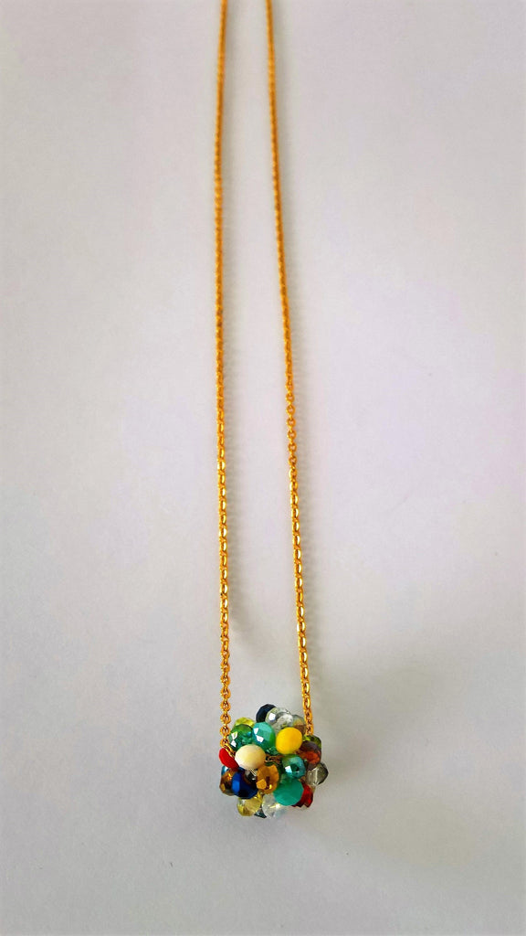 Murano necklace with Stainless steel chain