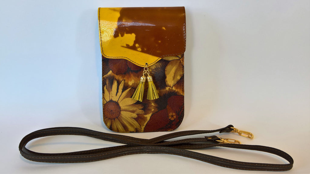 Shoulder Bag- Flowers/Amber