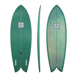 Diverse 'Astral Tracer' Fish - Green 5'4-6'2