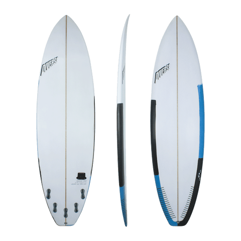 Diverse 'Mr Comfort' Shortboard- Black/Blue 6'8 - 7'4