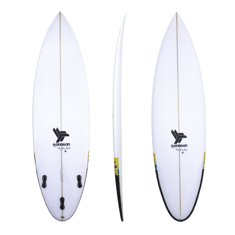 Flanagan 'Antidote' Round Tail Shortboard 5'11-6'6
