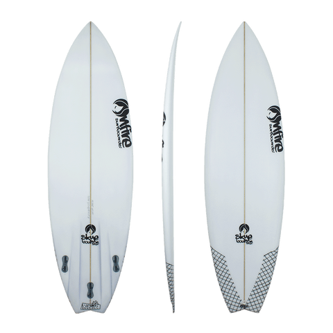 On fire 'Rampage' Shortboard - White 5'8-6'2