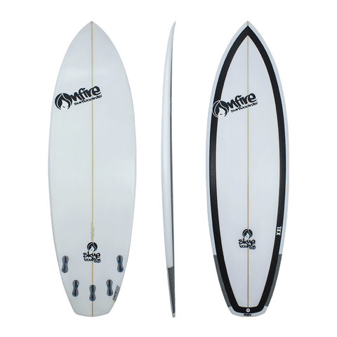 On Fire Skye Bourton 'Extractor' Shortboard Black 5'4-6'6
