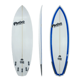 On Fire Skye Bourton 'Extractor' Shortboard Blue 5'4-6'6