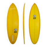 Retro Groove 'Dim Slim' Shortboard - Yellow 5'8-6'6