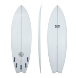 Retro Groove 'RG1' Shortboard - White swallow tail