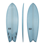 Retro Groove 'Moon Slap' Shortboard - Blue 5'0-6'0