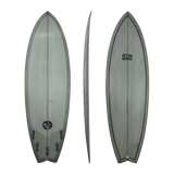 Retro Groove 'RG1' Shortboard - Grey swallow tail