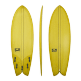 Retro Groove 'Moon Slap' Shortboard - Yellow 5'0-6'0