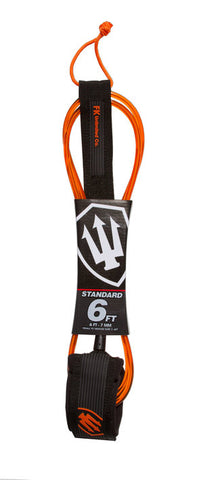 FK Standard 6ft Leash - Orange / Clear