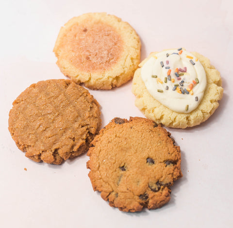 Logan, Utah's Num Gourmet Desserts creates assortment of keto-friendly cookies for your next girl's night. keto chocolate chip cookie, keto snickerdoodle cookie, keto peanut butter cookie, keto sugar cookie, num gourmet dessert, logan utah desserts, low carb cookies #NumGourmetDessrts #LoganUtah #LoganUtahDessert #KetoDessert #KetoBreakfast #KetoSweets #DiabeticFriendlyDesserts #KetoDiet #GuiltFreeDessert #HighProteinDessert