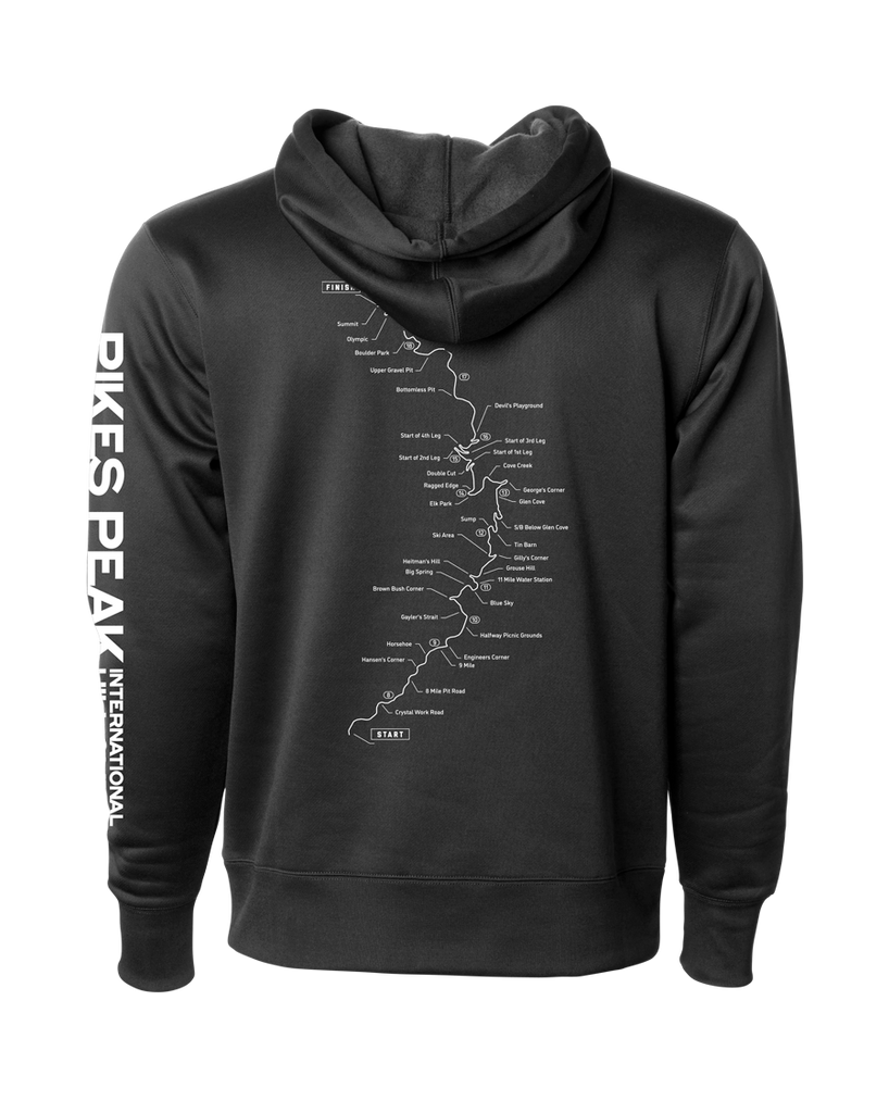 Pikes Peak InternatIonal Hill Climb - Map Hoodie