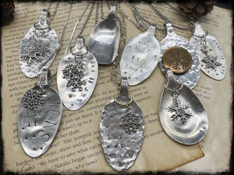 Silver Plated Spoon Necklaces