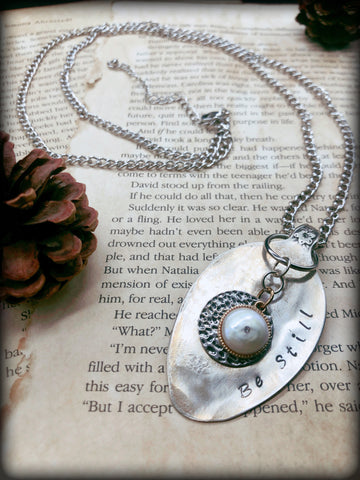 Pearl Spoon Necklace