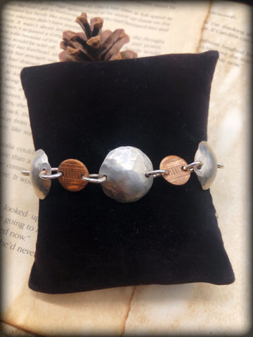 Quarter and Penny Bracelet ~Blessed Collection