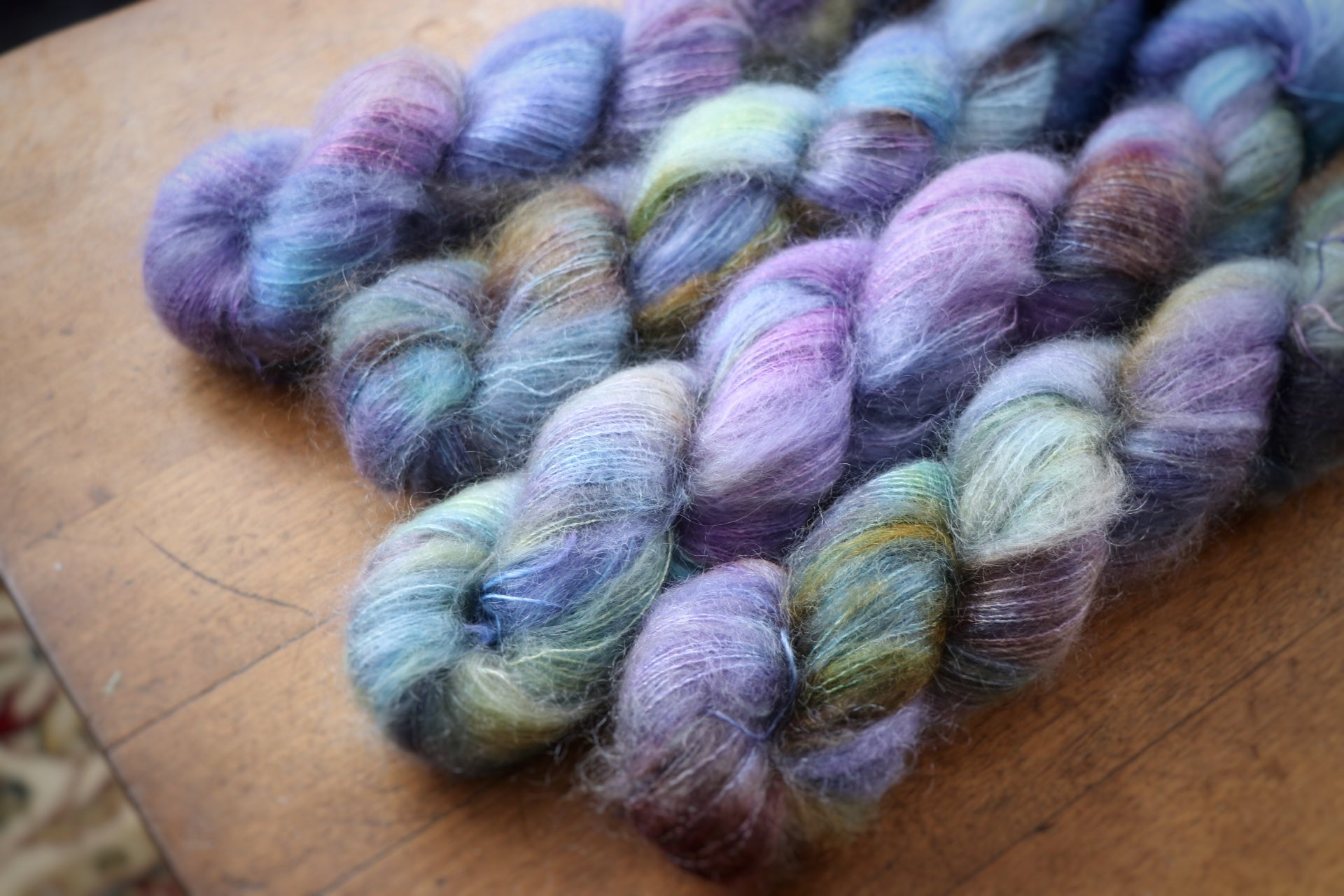 Dragonfly on Aura Mohair