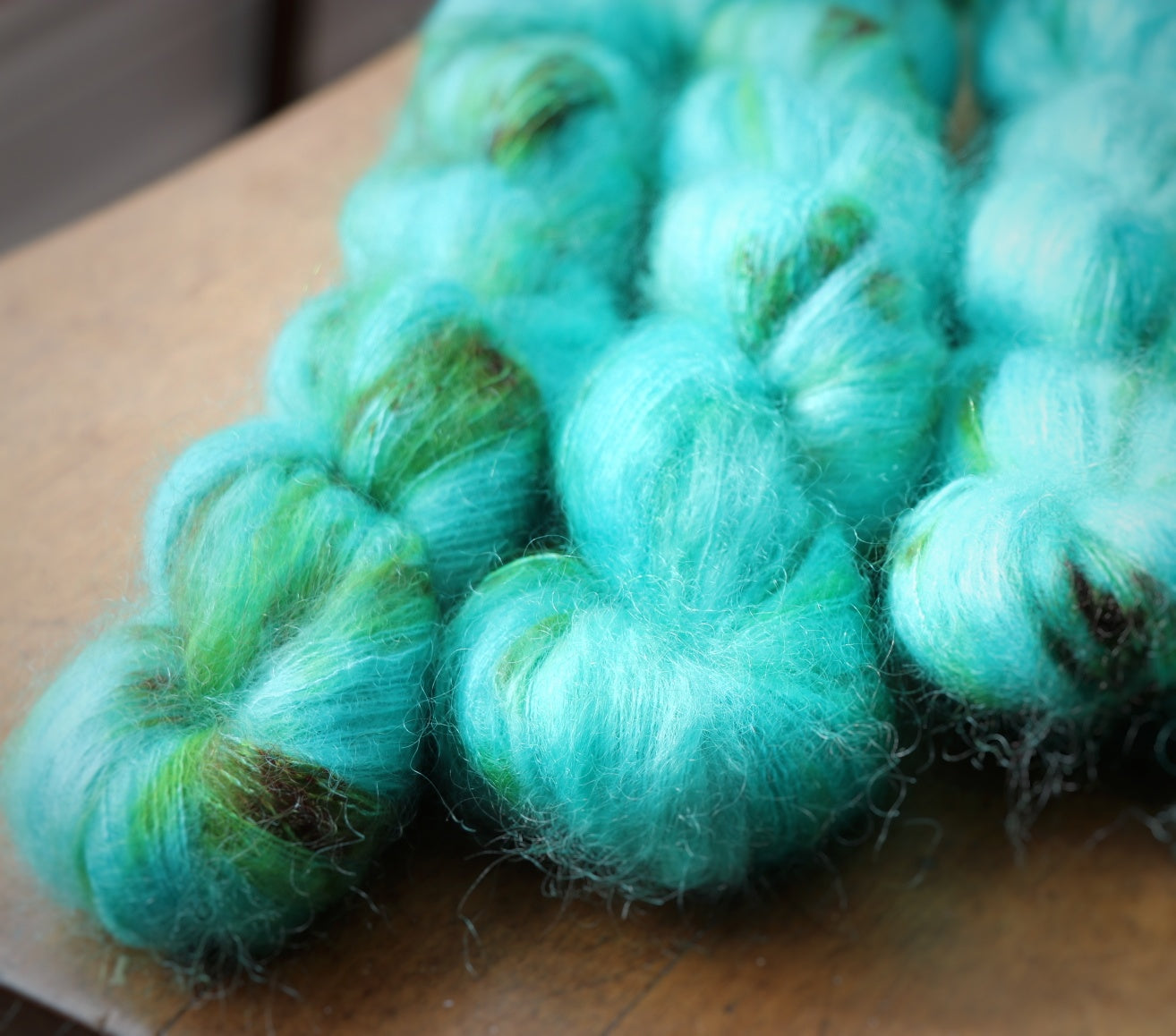 Speckled Robin's Egg on Aura Mohair