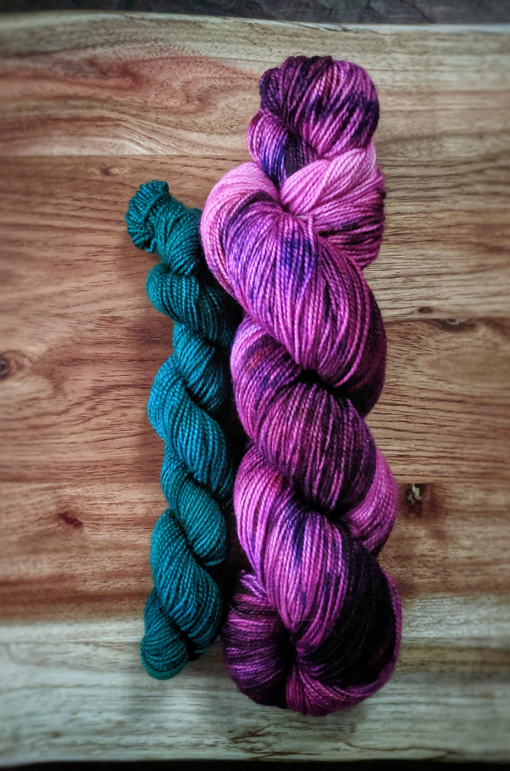 Crocus and Mystic Forest Sock Set on Rugged Sock