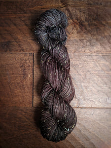 Dark Chocolate on Vintage Tweed