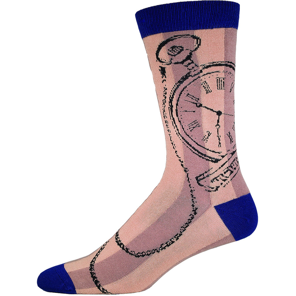 Men's Bamboo Pocket watch - Laughing Sock, Men's Socks - socks, SockSmith - Hot Sox, Sock Guy, Socksmith