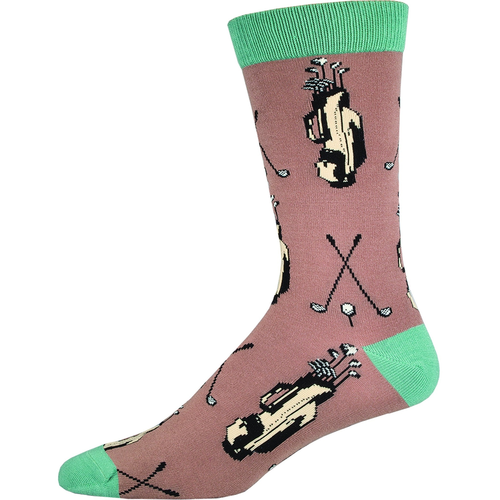 MEN'S BAMBOO GOLF CLUBS SOCKS - Laughing Sock, Men's Socks - socks, SockSmith - Hot Sox, Sock Guy, Socksmith