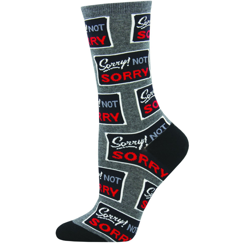 SORRY NOT SORRY SOCKS - Laughing Sock, Women's Socks - socks, SockSmith - Hot Sox, Sock Guy, Socksmith