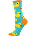 RUBBER DUCKY SOCKS - Laughing Sock, Women's Socks - socks, SockSmith - Hot Sox, Sock Guy, Socksmith