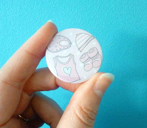 Baby Shower Pin Badge