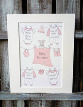 Load image into Gallery viewer, New Born Keepsake Print