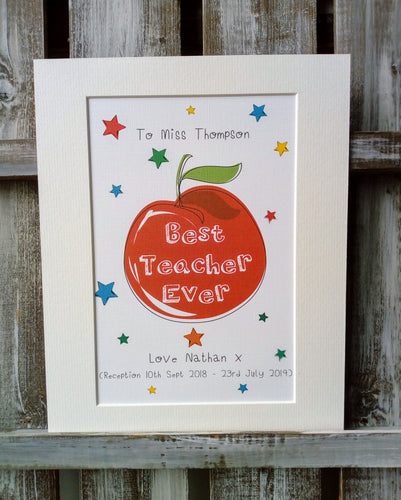'Best Teacher' Ever Apple Design