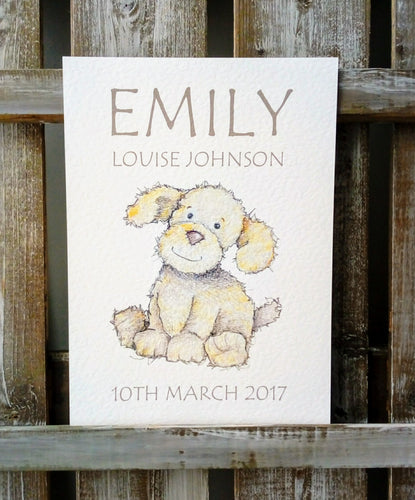 Birthday, Christening & Naming Day Print