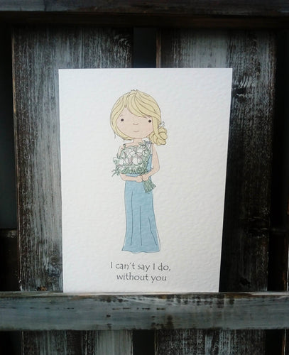 Bridesmaid Maid of Honour Proposal Card