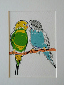 Budgies Couple Print
