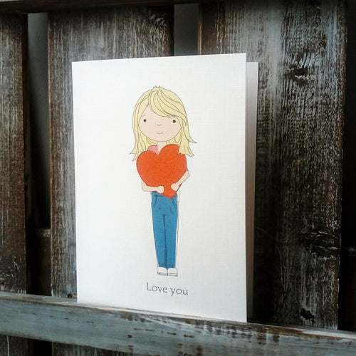 Love Heart Illustration Card