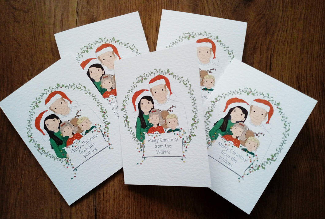 Christmas Family Illustration Cards