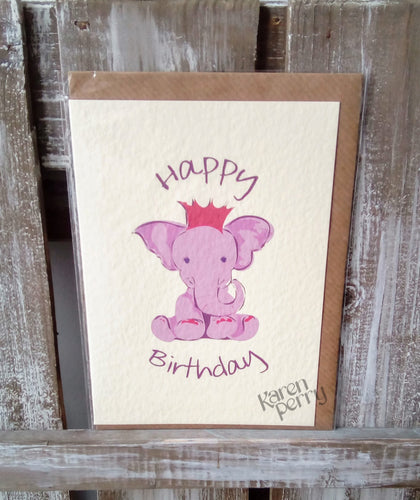 Elephant Happy Birthday Greetings Card