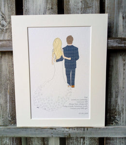 Father of the Bride Thank you Illustration