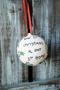 First Christmas New Home Bauble