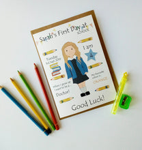 Load image into Gallery viewer, First Day at School, Preschool, Nursery prints & cards