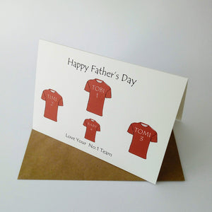 Football Family Team Card