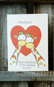 Giraffe Couple Card