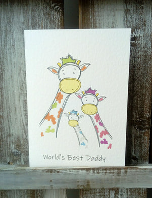 Giraffe Father's Day Greetings Card