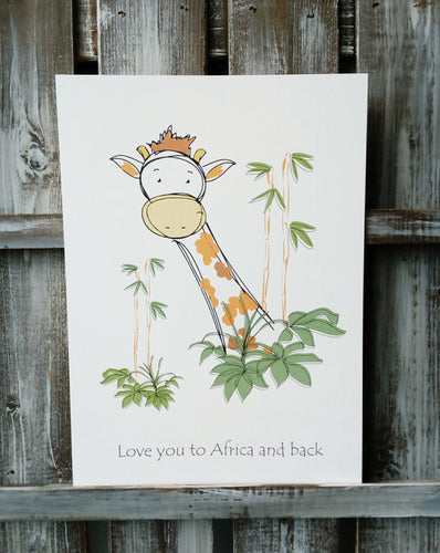 Giraffe Jungle Print