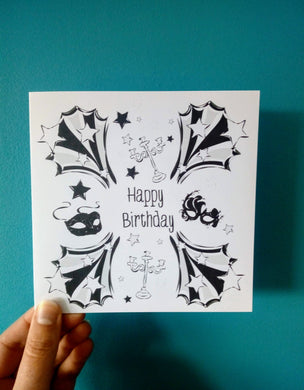 Happy Birthday Masked Ball Card