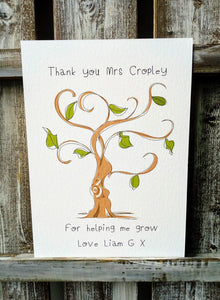 'Thank you for helping me grow' Tree Print